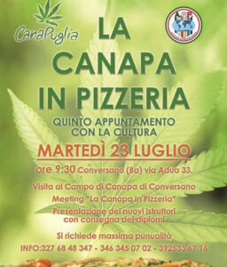 La canapa in pizzeria