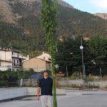 Paolo Torrelli con una pianta da fibra
