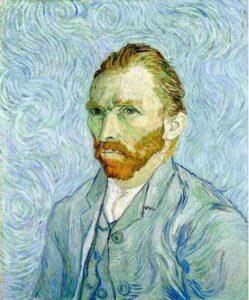 Van Gogh Autoritratto tela di canapa