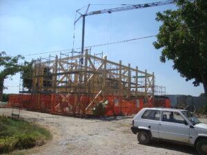 La struttura portante in legno