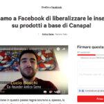 Facebook, canapa ed inserzioni: una petizione per eliminare il divieto